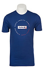 Hurley Men's Core Locator Deep Royal Short Sleeve Logo Tee