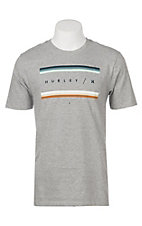 Hurley Men's Grey Core Grades Logo Short Sleeve Tee