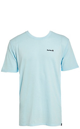 Hurley Men's One & Only Dri-Fit Topaz Mist Short Sleeve Logo Tee