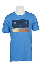 Hurley Men's Light Blue Breaking Sets S/S T-Shirt