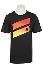Hurley Men's Black Premium Icon Slash Gradient Short Sleeve Tee