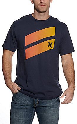 Hurley Men's Navy Gradient Icon Short Sleeve T-Shirt