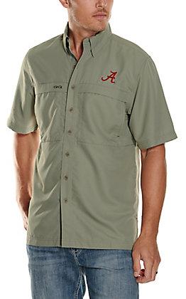 GameGuard Outdoors Men's University of Alabama Mesquite MicroFiber Short Sleeve Fishing Shirt