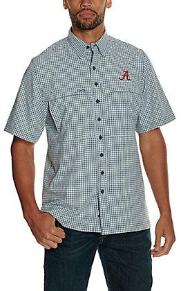 GameGuard Outdoors Men's University of Alabama Glacier TekCheck MicroFiber Short Sleeve Fishing Shirt