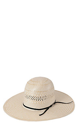 American Hat Ivory Vent Straw Open Crown Cowboy Hat