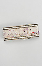 Ashlyn & Rose Lilac and Beige Stud Rock Magnetic Bracelet
