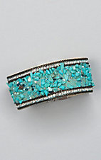 Ashlyn & Rose Turquoise Studded Rock Magnetic Bracelet