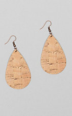 Ashlyn Rose Cork Teardrop Earring