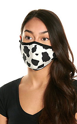 Cow Print Cloth Face Mask with Filter