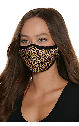 Leopard Print Cloth Face Mask with Filter
