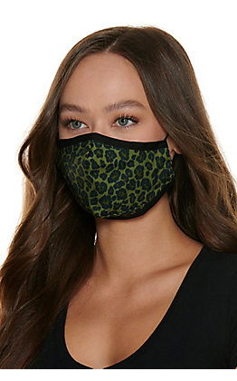 Olive Leopard Cloth Face Mask with Filter