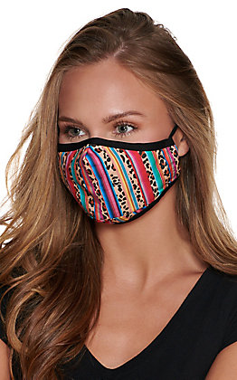 Leopard Serape Cloth Face Mask with Filter
