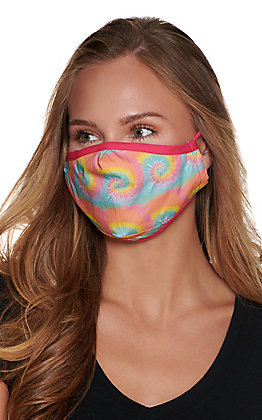 Pastel Tie Dye Cloth Face Mask with Filter