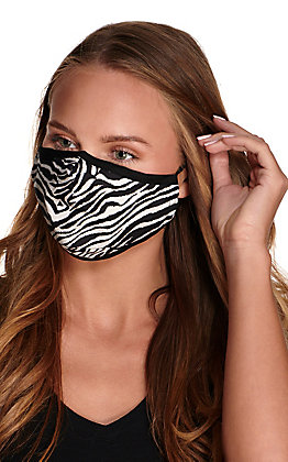 Zebra Cloth Face Mask with Filter