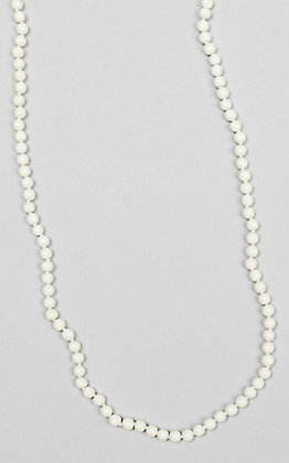 Ashlyn & Rose White Beaded 17 inch Layering Necklace