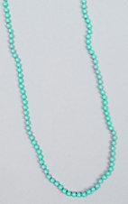 Ashlyn & Rose Turquoise Beaded 17 inch Layering Necklace