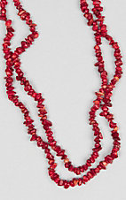 Ashlyn Rose Coral Natural Stone Double Wrap Necklace