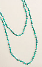 Ashlyn & Rose Turquoise Beaded 60 inch Layering Necklace