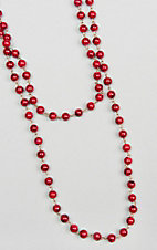 Ashlyn & Rose Red Beaded 45 inch Chain Layering Necklace