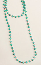 Ashlyn & Rose Turquoise Beaded 45 inch Chain Layering Necklace