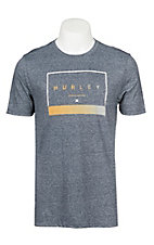Hurley Men's Siro Off The Press Obsidian Logo Short Sleeve Tee