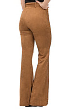 Flying Tomato Women's Camel Faux Suede Pants