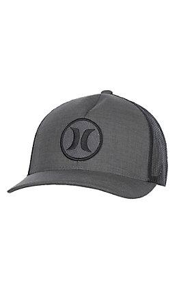 Hurley Charcoal Grey Logo Snapback Mesh Cap