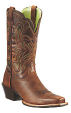 Ariat Women's Sassy Brown Legend Punchy Square Toe Western Boot