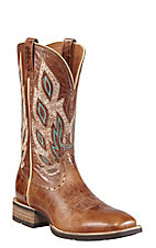Ariat Nighthawk Men's Beastly Brown Double Welt Square Toe Western Boot