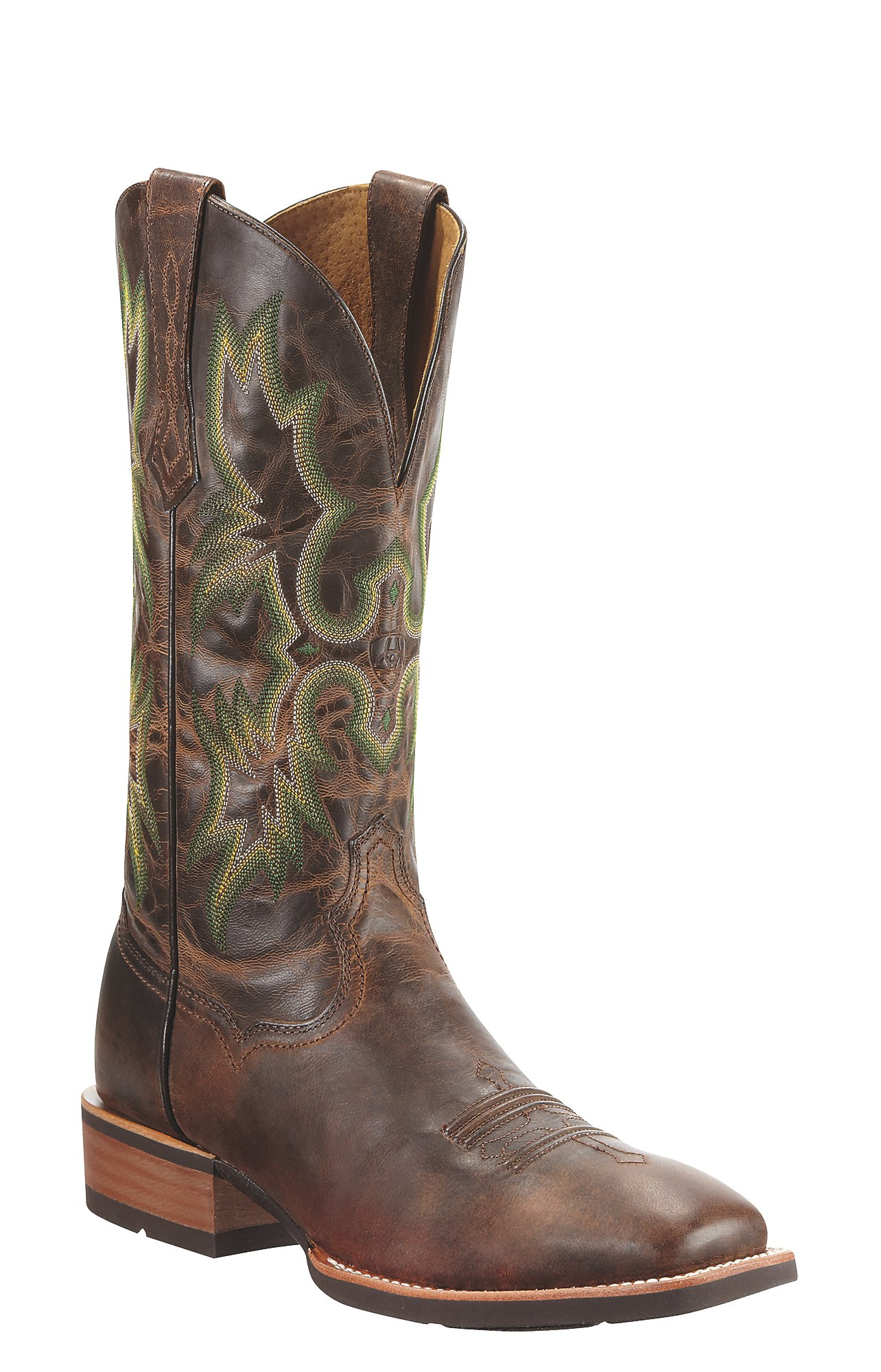 Ariat Tombstone Men's Weathered Chestnut Brown Square Toe Western ...