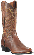 Ariat Heritage Men's Weathered Chestnut Brown R-Toe Western Boots