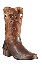 Ariat Rawhide Men's Weathered Chestnut Brown with Vintage Cedar Square Toe Western Boot
