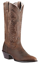 Ariat Ladies Magnolia Distressed Brown Heritage R-Toe Traditional Toe Western Boots