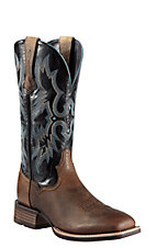 Ariat Tombstone Men's Earth Brown w/Black Top Double Welt Square Toe Western Boots