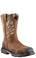 Ariat Overdrive Men's Alamo Brown Square Composite Toe Western Work Boots