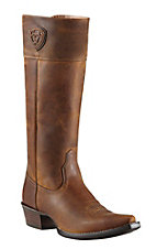 Ariat Chandler Women's Distressed Brown Tall Top Snip X-Toe Western Boots