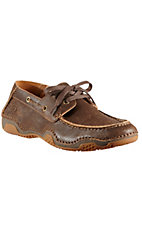 Ariat Caldwell Men's Weathered Wood Brown Driving Casual Shoe
