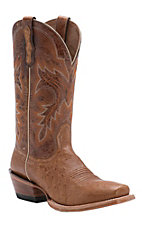 Ariat Ranchero Mens Antique Saddle Smooth Ostrich Punchy Square Toe Western Boot