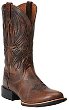 Ariat Quantum Pro Men's Weathered Chestnut Round Toe Western Boots