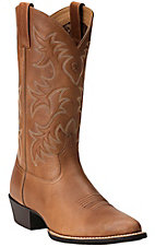 Ariat Heritage Men's Dusty Dun Tan R-Toe Western Boots