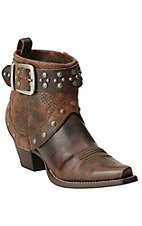 Ariat Defiance Sassy Brown with Studs & Harness Western Fashion Boots
