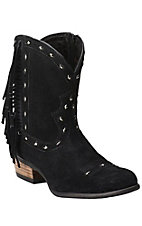 Ariat Sunset Women's Sunset Onyx Suede with Fring Traditional Toe Fashion Boot