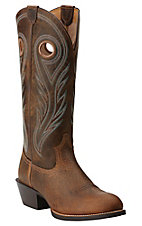 Ariat Men's Earth Distressed Brown Sport Buckaroo Round Toe Western Boots