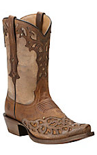 Ariat New West Women's Vera Cruz Weathered Brown Cutout Snip Toe Western Boots