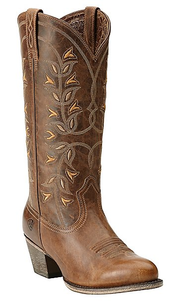 Ariat New West Women's Pearl Desert Holly Traditional Toe Western ...