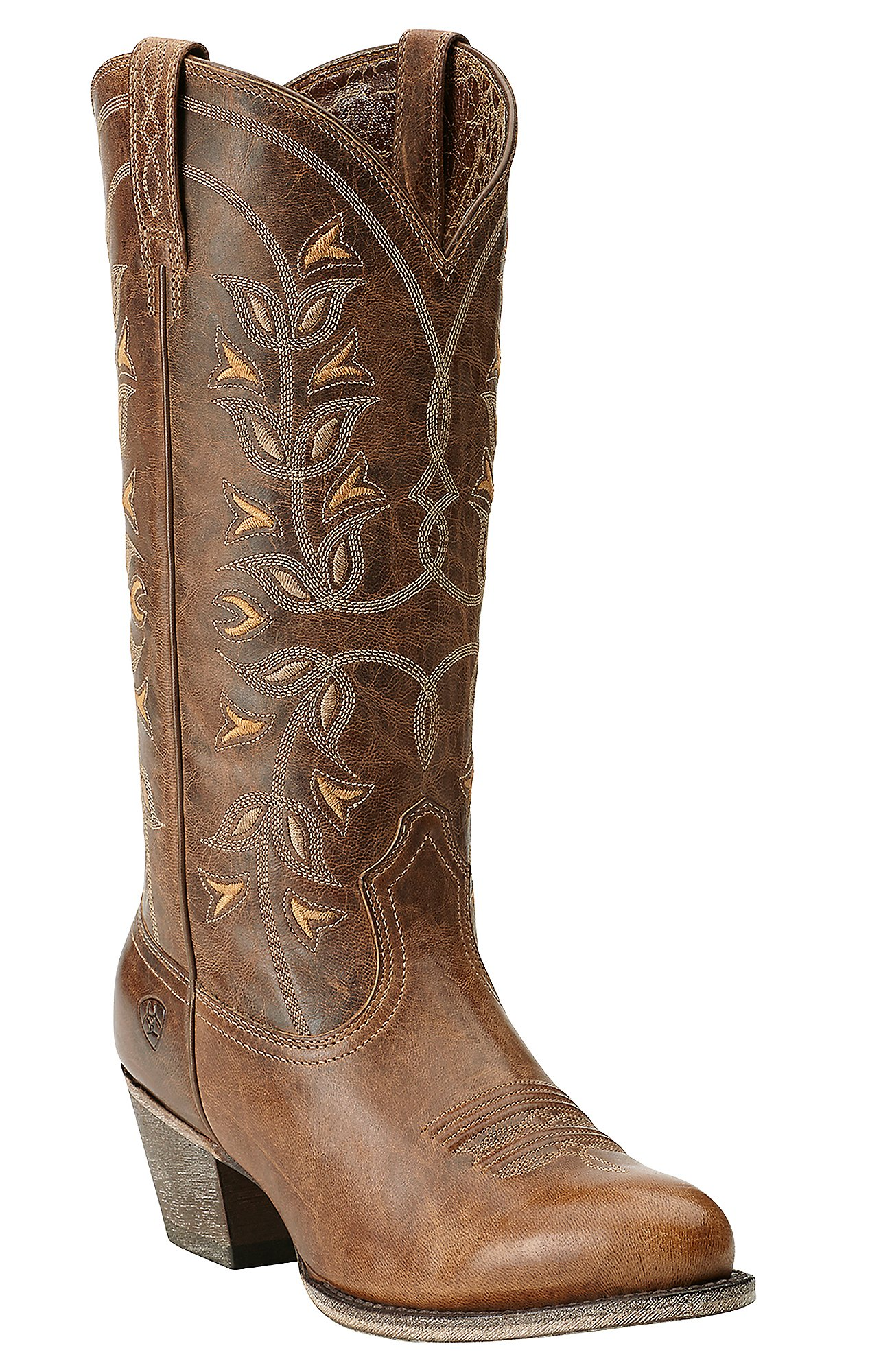 Ariat New West Women\u0027s Pearl Desert Holly Traditional Toe Western Boots