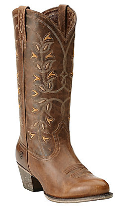 Ariat New West Women's Pearl Desert Holly Traditional Toe Western Boots