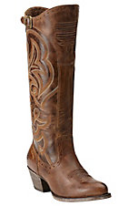 Ariat New West Women's Sandstorm Brown Wanderlust Tall Traditional Toe Western Fashion Boots