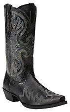 Ariat Men's Blackhawk Country Black Deertan / Granite Snip Toe Western Boots
