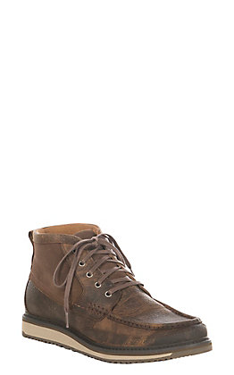 Ariat Rugged West Men's Lookout Earth Brown & Stone Suede Driving Moc Casual Shoe